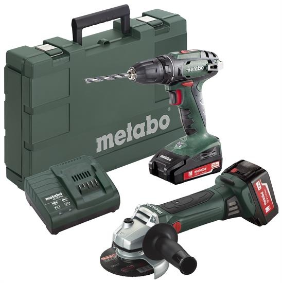 metabo combo set bs 18 w 18 ltx 125 metabo metabo bosch akcia anakra n radie a stroje. Black Bedroom Furniture Sets. Home Design Ideas