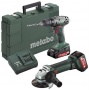 Metabo Combo Set BS 18 + W 18 LTX 125