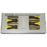 Sada pilníkov 5 dielna 200 mm v krabici, PROTECO